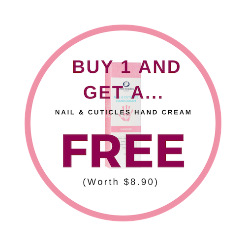 Get a free Cuticle Hand cream when you order!